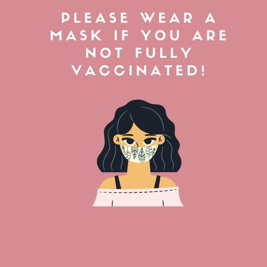 Please wear a mask in Town Hall if you are not vaccinated